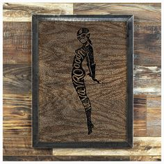 """Va Va Vroooom    My homage to the classic french motorcycle poster... I really like the way the breakup plays on top of the wood grain...     Made-To-Order      Made from oak that has each been sanded smooth and painted, the image is created by ripping away the pigment, leaving the beautiful texture of the wood undisturbed.    The frame is welded 1-1/4"""" steel angle, with a light grinding, for a very industrial feel.    As each piece of wood I use has it's own grain pattern, yours will be…"""
