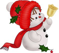 Cute Vintage Snowman PNG Clipart