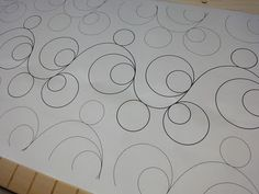 Double bubbles - Good design for free-motion quilting on the home sewing machine.