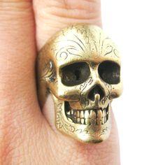 Skull ring $10