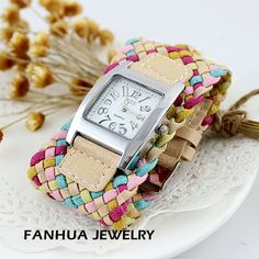 Aliexpress.com : Buy New arrival product 2013 fashion equisite colorful weaving workable watch bracelet for gifts from Reliable watch bracelet suppliers on Fanhua Jewelry Factory $3.79