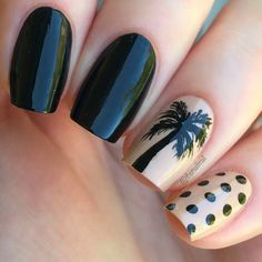 38 Charming Black Nail Art Designs That You'Ll Love Nail Art Designs, Black Nail Designs, Nail Polish Designs, Black Nail Art, Black Nail Polish, Fabulous Nails, Perfect Nails, Fancy Nails, Pretty Nails