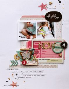 #Papercraft #scrapbook #layout.  Random Ramblings...: Now with Crate Paper