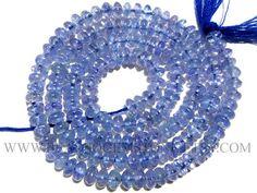 Tanzanite Smooth Rondelle Semiprecious Gemstone Beads #tanzanite #tanzanitebeads #tanzanitebead #tanzaniteroundel #roundelbeads #beadswholesaler #semiprecioustone #gemstonebeads #beadsogemstone #beadwork #beadstore #bead