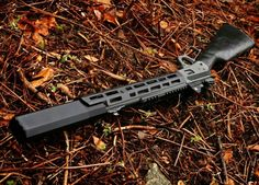 Courtesy of BUFFALODILLER. This bad ass custom lever action. The Marlin 1894 SBR chambered in 357 magnum with a cut down barrel of The muzzle is threaded at with a SilencerCo Osprey attached. Tactical Rifles, Firearms, Shotguns, Weapons Guns, Guns And Ammo, Custom Guns, Concept Weapons, Military Guns, Cool Guns