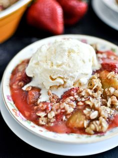 Strawberry Kiwi Crisp - never seen this fruit combo in a crisp before and now I must make this happen.