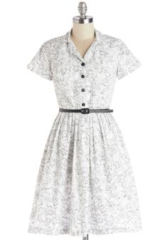 Painting Picnic Dress. You always create your best pieces when surrounded by nature.  #modcloth
