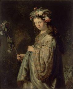 Флора би Рембрант ван Ријн 1634 уље на платну Ермитаж Држава