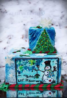 On my birthday.let it snow♥♥♥♥♥! Let It Snow, Let It Be, Magic, Birthday, Cake, Desserts, Blog, Christmas, Pineapple