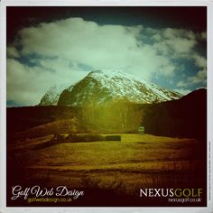 Fort William Golf Club, West Scotland, view walking to the first tee.