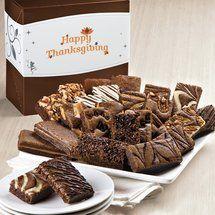 Thanksgiving Sprite 24   Gourmet Brownie Gift Baskets Delivered