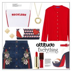 """Attitude is Everything * Reckless (TFS)"" by pat912 ❤ liked on Polyvore featuring Gucci, Christian Louboutin, Winser London, Nine West, Shashi, Charter Club, Kevyn Aucoin, CENA and polyvoreeditorial"