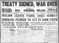 Unit 3 - Three major events resulted in the Treaty of Versailles.  *German's surrender of colonies as the League of Nations mandates. *Alsoce-Lorraine's return to France. *The cession of Eupen-Malmedy to Belgium, Memel to Lithuania and the Hultschin district to Czechoslovakia.