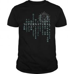 Cool Supernatural T-Shirt Shirt; Tee