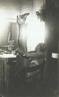 Josephine Baker in her dressing room. A beautiful woman inside and out.