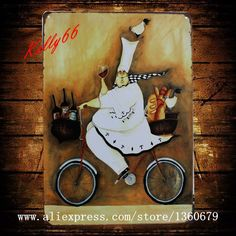 [ Kelly66 ] 20*30 CM Size To send food old Metal Plaque Wall Bar Poster Craft AA-88