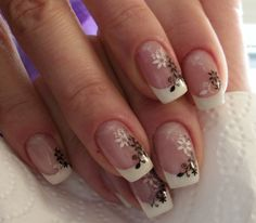 Black and white stamping nails