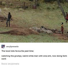 Who can fault them? I bet it's highly amusing, watching city boy Bucky Barnes trying to herd goats into a pen with one arm.