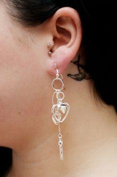 korvikset Drop Earrings, Heart, Jewelry, Fashion, Moda, Jewlery, Jewerly, Fashion Styles, Schmuck