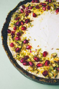 Labne Tart (No Sugar, No Bake) by simpleprovisions (you can also buy labne in some stores)