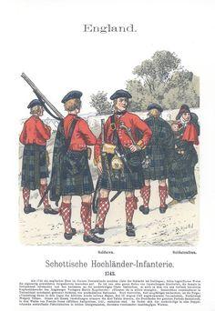 Band XVI #25.- England. Schottische Hochländer-Infanterie 1743.
