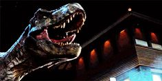 Rexy against the Indominous Rex Jurassic World