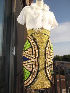 High Waist African Print Pencil Skirt. by AkeseStyleLines on Etsy Latest African Fashion, African Prints, African fashion styles, African clothing, Nigerian style, Ghanaian fashion, African women dresses, African Bags, African shoes, Nigerian fashion, Ankara, Aso okè, Kenté, brocade etc ~DK