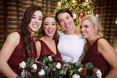 Aoife and her beautiful Bridesmaids next to the Christmas tree. Wedding Photography by Marriage Multimedia Bridesmaids, Bridesmaid Dresses, Wedding Dresses, Tree Wedding, Multimedia, February, Marriage, Christmas Tree, Wedding Photography