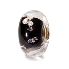 """""""Diamonds are a girl's best friend,"""" according to Marilyn Monroe in the 1953 film """"Gentlemen Prefer Blondes"""". Indeed, diamonds have always fascinated us. This crystal orb is embedded with 13 cubic zirconias. The bead is lined with black."""