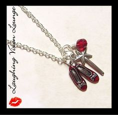 LaughingVixenLounge on Etsy - Ruby Slippers necklace
