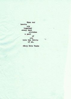 Typewriter poem #42 | Mary Kate Teske