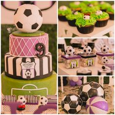 Soccer Themed Birthday Party with So Many Awesome Ideas via Kara's Party Ideas KarasPartyIdeas.com #soccerparty #sports #soccercake #sportsp...