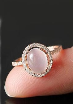 simple halo moonstone promise ring