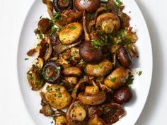 Smoky Roasted Mushrooms pair well with grilled steak or go nicely on top of a juicy burger.