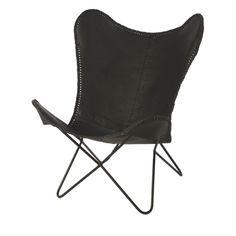 Riverdale Brooklyn Vlinderstoel Zwart - 92 cm - afbeelding 1