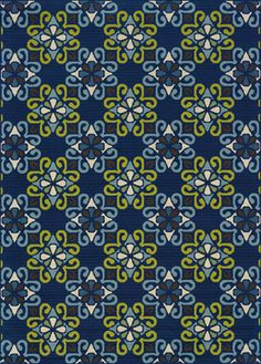 I would love this on my patio!   patterned indoor/outdoor carpet in shades of blue & green from Weston Carpet