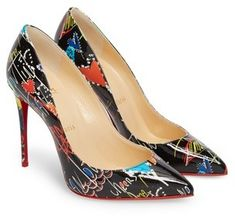 Women's Christian Louboutin Pigalle Loubitag Pointy Toe Pump