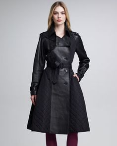 Jean Paul Gaultier Quilted Trench & Leather Princess Coat