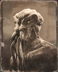 Lovecraft Cthulhu, Hp Lovecraft, Horror Icons, Horror Art, Scary, Creepy, Myths & Monsters, Eldritch Horror, Skeleton Art
