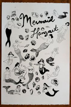 mermaid silkscreen poster. Awesome