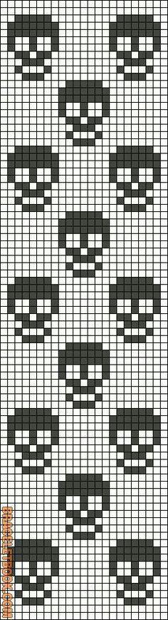 Calaveras punto de cruz