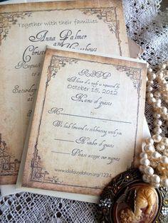 Vintage Wedding Invitation Suite Sample by AVintageObsession