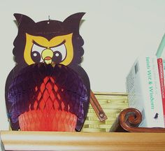 Vintage Halloween Decorations--Honeycomb Owl by MissConduct*, via Flickr