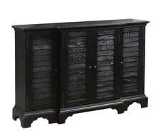 4-Door Accent Chest in Black | Pulaski | Home Gallery Stores
