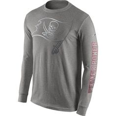 Tampa Bay Buccaneers Nike Reflective Pack Long Sleeve T-Shirt - Gray