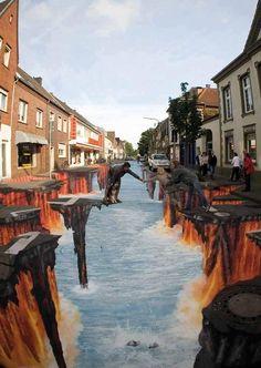 Amazing 3D Street Art !!