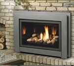 Direct Vent gas inserts are one of the safest and efficient ways to convert a wood burning fireplace to gas. Gas Fireplace Insert Cost, Direct Vent Gas Fireplace, Fireplace Update, Gas Fireplace Logs, Farmhouse Fireplace, Fireplace Remodel, Fireplace Inserts, Brick Fireplace, Foyer Au Gaz