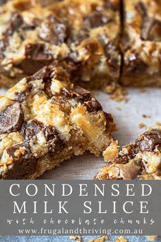 Milk Caramel Recipe, Caramel Recipes, Sweet Condensed Milk, Condensed Milk Recipes, Almond Slice Recipes, Chocolate Weetbix Slice, Baking Recipes, Dessert Recipes, Delicious Desserts