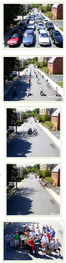 #TransitThursday -  Pictures that show how much space different transportation modes require.