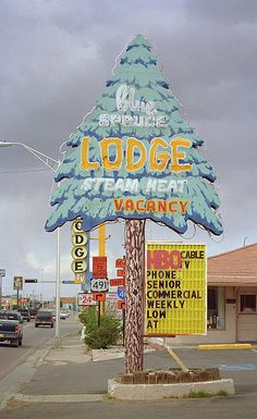 """Route 66 - Blue Spruce Lodge, Gallup, New Mexico. """"The Fine Art Photography of Frank Romeo."""""""